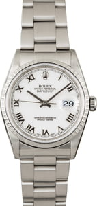 PreOwned Rolex Datejust 16220 White Roman Dial