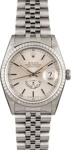 Rolex Datejust 16220 Silver Saudi Private Label Dial