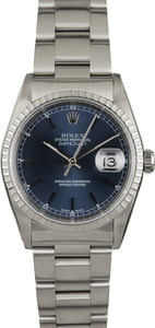 Rolex Datejust 16220 Blue Dial Steel Oyster Band