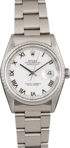 Rolex Datejust 16220 White Roman Index Dial