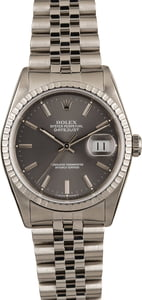 Used Rolex Datejust 16220 Slate Index Dial