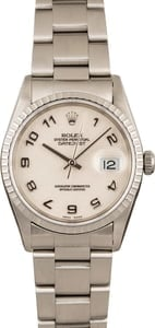 Used Rolex Datejust 16220 Ivory Roman Jubilee Dial