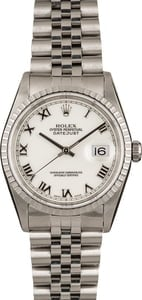 Pre-Owned Rolex Datejust 16220 Roman Markers