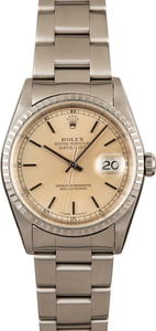 Rolex Datejust 16220 Silver Index Dial