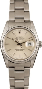 Used Rolex Steel Datejust 16220 Silver Dial