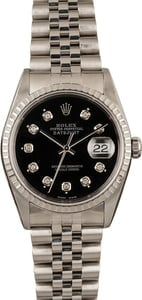 Pre Owned Rolex Steel Datejust 16220 Diamond Dial