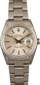 Rolex Datejust 16220 Silver Tapestry Dial