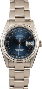 PreOwned Rolex Datejust 16220 Steel Oyster