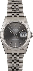 Pre Owned Rolex Datejust 16220 Slate Index Dial