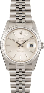 Pre Owned Rolex Datejust 16220 Stainless Steel Bezel