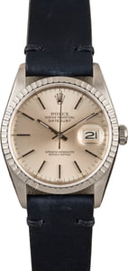 Pre-Owned Rolex Datejust 16220 Leather Strap