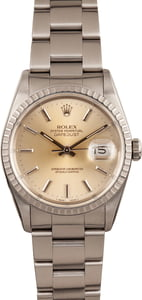 Pre-Owned Rolex Datejust 16220 Engine Turned Bezel