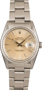 Rolex Datejust 16220 Silver Dial Steel Oyster