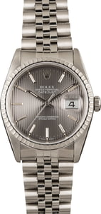 Men's Rolex Datejust 16220 Slate Tapestry Dial