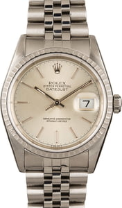 PreOwned Rolex Datejust 16220 Silver Dial
