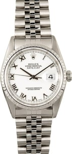 Rolex Datejust 16220 White Certified Pre-Owned