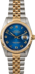 Datejust Rolex 16233 Blue Arabic Dial