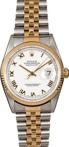 Men's Rolex Datejust 16233 Roman Dial