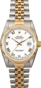 Genuine Rolex Datejust 16233 White Roman Dial