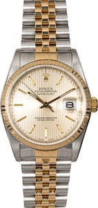 Pre-Owned Rolex Datejust 16233 Silver Tapestry Dial