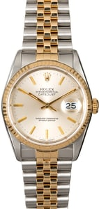 Rolex Datejust 16233 Silver Two-Tone