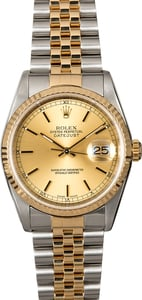 Rolex Datejust 16233 Champagne Index Two-Tone