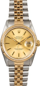 Rolex Datejust 16233 Champagne Two Tone Men's Watch