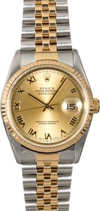 Rolex Datejust 16233 Champagne Dial Two Tone Jubilee