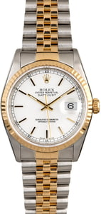 Men's Rolex Datejust 16233 White Dial