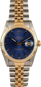 Rolex Datejust 16233 Two Tone Jubilee Men's Watch