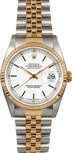 Rolex Datejust 16233 White Dial