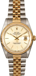 Certified Pre-Owned Rolex Datejust 16233 Two Tone Jubilee