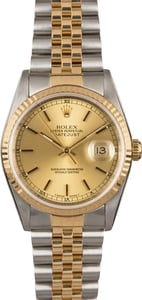 Certified PreOwned Rolex Datejust 16233 Champagne Dial