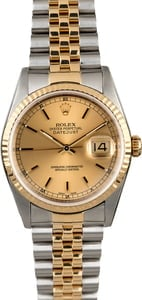 Rolex Datejust 16233 Two Tone Champagne Dial