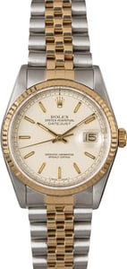 Rolex Datejust 16233 Ivory Jubilee Index Dial
