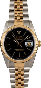 Men's Rolex Datejust 16233 Black Dial