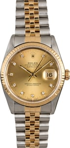 PreOwned Rolex Datejust 16233 Champagne Diamond Dial