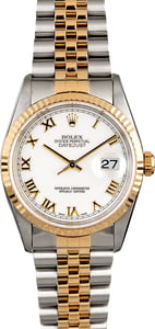 Rolex Datejust 16233 White Roman Men's Watch