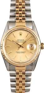 Two Tone Rolex Datejust 16233 Men's Watch