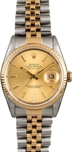Rolex Datejust 16233 Champagne Men's Watch