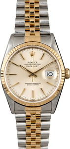 Rolex Datejust 16233 Silver Index Dial