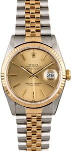 Men's Rolex Datejust 16233 Two Tone Jubilee