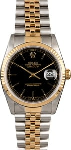 Men's Rolex Datejust 16233 Black Index Dial