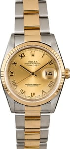 Men's Rolex Datejust 16233 Two Tone Oyster