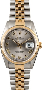 Certified PreOwned Rolex Datejust 16233 Two Tone Jubilee