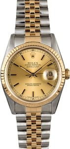 Rolex Datejust 16233 Champagne Two Tone
