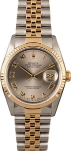 Rolex Datejust 16233 Two Tone Jubilee with Slate Dial