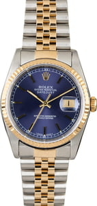 Rolex Datejust 16233 Two Tone with Blue Dial