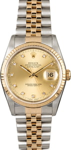 Pre-Owned Rolex Datejust 16233 Champagne Diamond Dial
