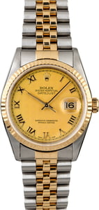 Rolex Datejust 16233 Champagne Pyramid Dial